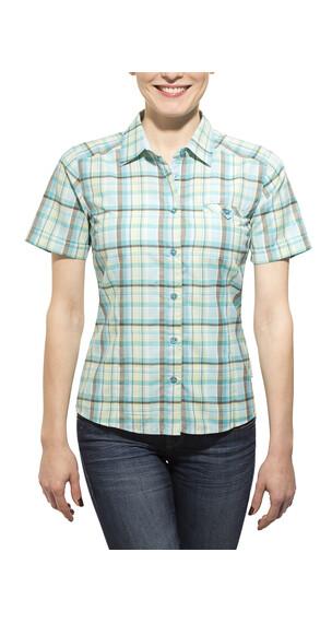 axant Alps - Camisas de manga corta Mujer - verde/Azul petróleo